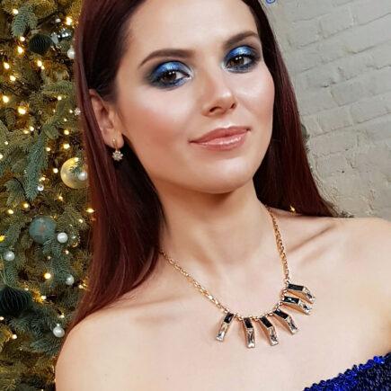 Новогодний макияж, праздничный образ 2020 - фото Style Wizard, косметика Орифлейм