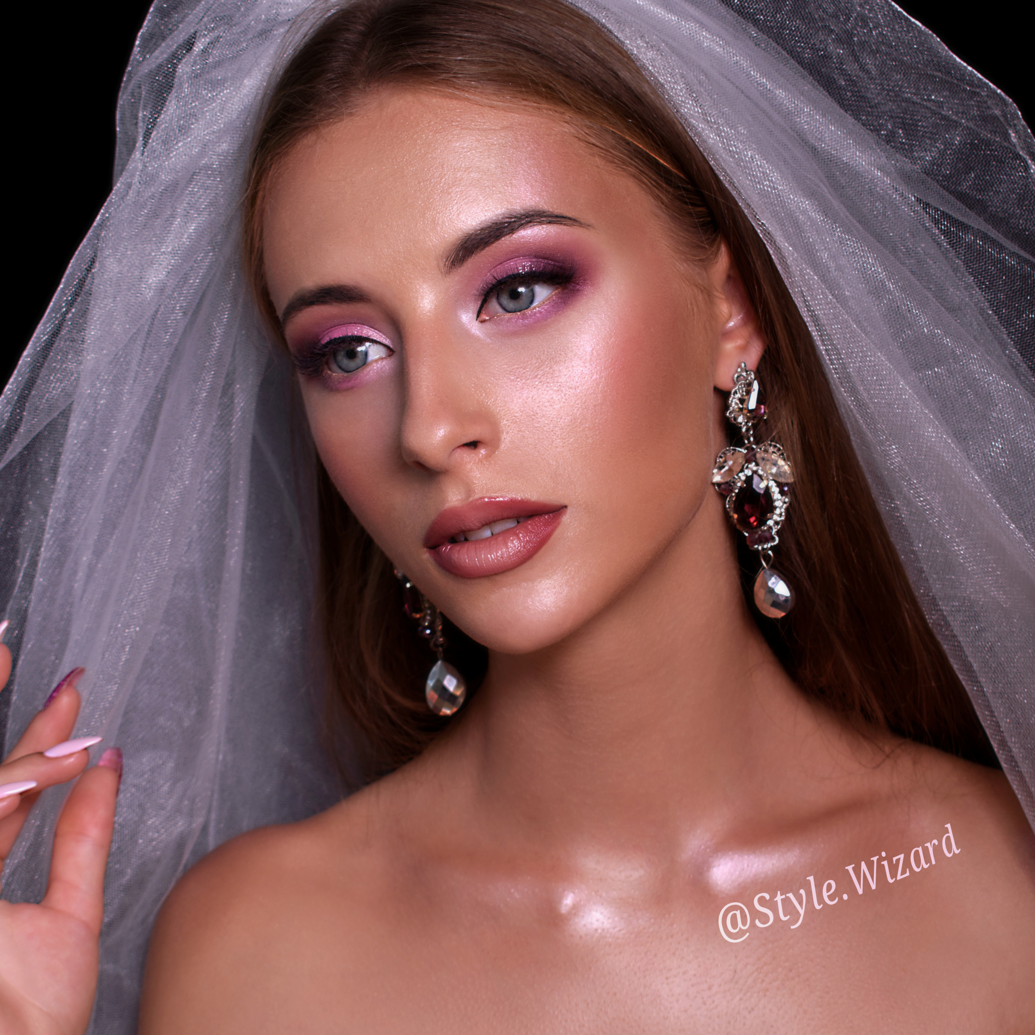 Свадебный макияж и прическа невесты в Киеве на Печерске.