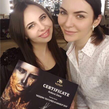 Обучающий курс - уроки визажиста в центре Киева - макияж для себя. Автор Style Wizard / Диана Кулькова.